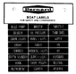 LABELS FOR POWER BOATS