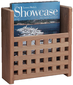 GRATE FRONT MAGAZINE RACK