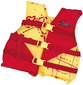 YELLOW/RED DELUXE CHILD VEST 2