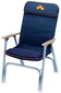 PADDED DECK CHAIR ANOD. ALUM.
