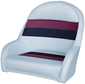 BUCKET SEAT PLASTIC GREY/RED
