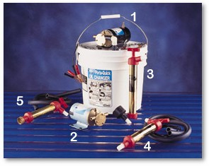 Oil change and diesel transfer pumps by jabasco for Outboard motor oil change pump