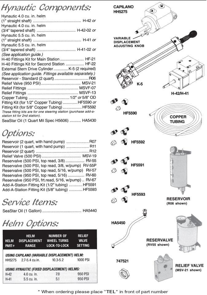 teleflex marine seastar capilano hydraulic sterndrive