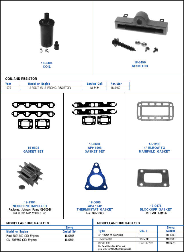 Indmar Ignition System Parts